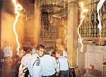 Lightings which appeared before Holy Fire descend